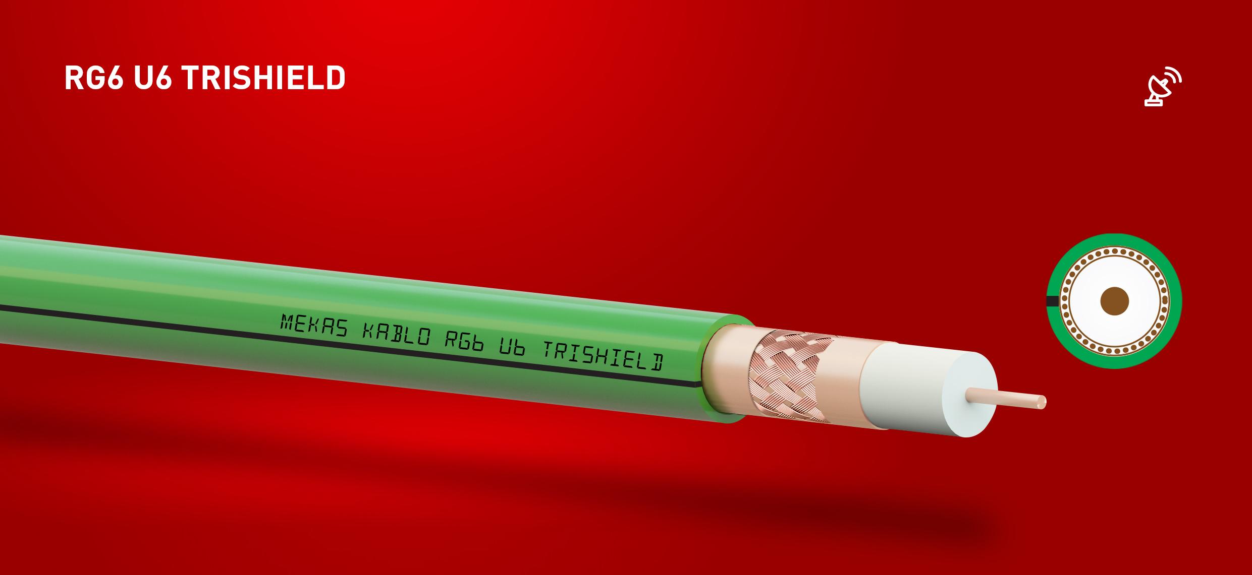 koaksiyel kablo rg6 u6 trishield