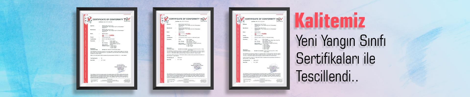 yangın sertifikaları