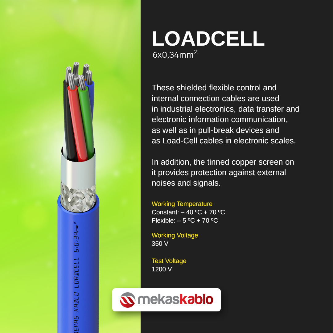 industry 4.0 cables loadcell 6 core